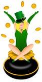 женщина белокурого leprechaun costume ирландского сексуальная иллюстрация штока