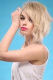 женщина белокурых волос чувственная Стоковая Фотография