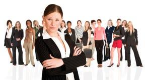 женщина бизнес-группы стоковые фотографии rf