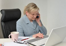 Женщина, бизнес-план Стоковые Изображения