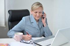 Женщина, бизнес-план Стоковые Фото