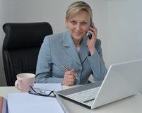 Женщина, бизнес-план Стоковое Фото