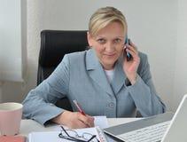 Женщина, бизнес-план Стоковое фото RF