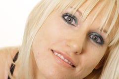 женщина блондинкы близкая поднимающая вверх Стоковые Изображения RF