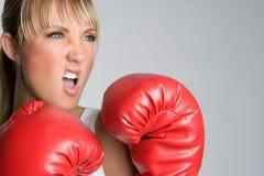 женщина бокса Стоковое Фото