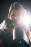 Женщина бокса Стоковые Изображения