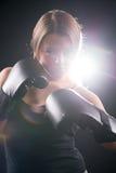 Женщина бокса Стоковые Фото