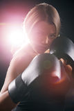 Женщина бокса Стоковое Изображение