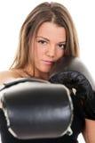 Женщина бокса Стоковые Фотографии RF