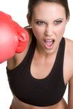 женщина бокса Стоковые Изображения RF