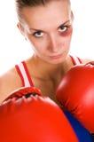 женщина боксера Стоковые Изображения RF