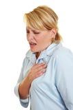 женщина боли сердца ощупывания дела Стоковые Изображения RF