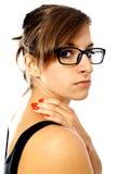 женщина боли шеи s Стоковые Изображения