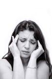 женщина боли Стоковое Изображение RF