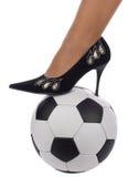 женщина ботинка ноги шарика Стоковое Фото