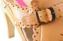 женщина ботинка Стоковые Фото