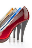 женщина ботинка Стоковое Изображение