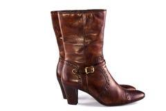 женщина ботинок коричневая Стоковая Фотография RF