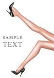 женщина ботинок черных ног сексуальная Стоковое Фото