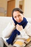 Женщина болезни стоковое изображение