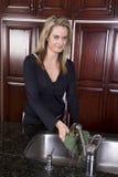 женщина брокколи моя Стоковая Фотография RF