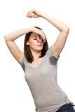 Женщина потея очень плох под подмышкой Стоковое Изображение