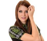 женщина брюнет симпатичная Стоковое Изображение RF