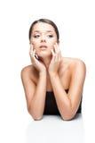 Женщина брюнет ofl портрета красотки Стоковая Фотография RF