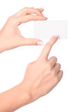 женщина бумаги руки карточки Стоковое фото RF