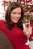 женщина вала рождества передняя Стоковая Фотография
