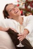 женщина вала рождества передняя Стоковые Фото