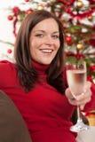 женщина вала рождества передняя Стоковое Изображение RF