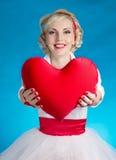 женщина Валентайн сердца s дня Стоковые Изображения