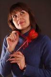 женщина Валентайн удерживания Стоковая Фотография RF