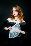 женщина вампира портрета Стоковое Изображение