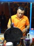женщина вектора подготовки кухни иллюстрации еды Стоковое Фото