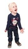 женщина вектора снежинок красивейшей иллюстрации рождества волшебная Милый и excited мальчик на белизне Стоковые Фотографии RF
