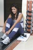 женщина веса гимнастики стоковое изображение