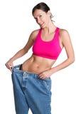 женщина веса потери Стоковые Изображения