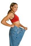 женщина веса потери Стоковое Изображение