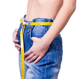 женщина веса тела проигрышная Стоковые Изображения RF