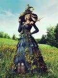 Женщина весны фантазии иллюстрация штока