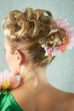 женщина вечера coiffure Стоковое Изображение