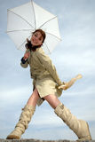 женщина взволнованности стоковое фото rf