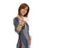 женщина визитной карточки Стоковое Изображение RF