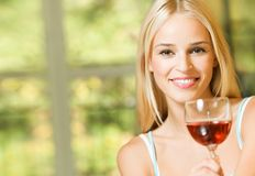женщина вина Стоковое фото RF