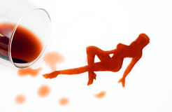 женщина вина Стоковое Изображение