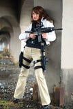 женщина винтовки сексуальная Стоковые Фотографии RF