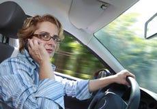 женщина водителя Стоковая Фотография