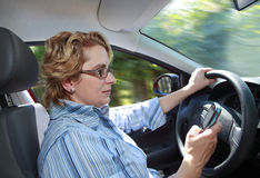 женщина водителя Стоковые Изображения